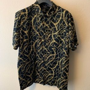 Versace inspired Forever21 gold chain print shirt